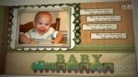 翻页效果的宝宝成长纪念册AE模板3Td000461