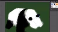 AI视频教程 AI画笔工具教程AI鼠绘大熊猫