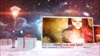 A0696 浪漫唯美魔法圣诞节平安夜雪景图片宣传片头AE模板