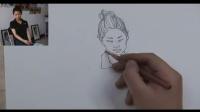 动漫彩铅画教学视频 漫画人物绘画学习脸型