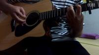 2015百度贴吧吉他吧指弹比赛翻弹岸部真明《夜明け前》