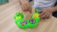 传奇糖果玩具毛毛虫钓鱼视频