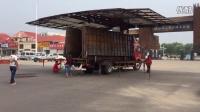 河南濮阳第一台半自动中型舞台车