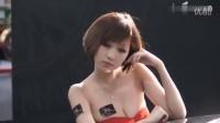 澳门车展美女嫩模深V诱惑