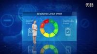 AE模板科技数字化企业信息图表统计报告数据包装栏目柱状图全息股票曲线饼状图经济商务商业