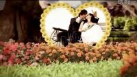 美丽花园中的花朵爱心边框相片展示AE模板