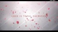唯美玫瑰花瓣雨中的爱情语录AE模板