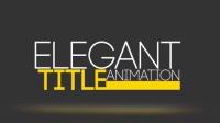 23独特优雅片头标题动画项目包AE模板