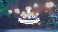 可爱的卡通圣诞雪人视频片头介绍AE模板