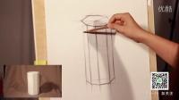 素描基础教程石膏几何体结构-八棱柱画法【我是美术生】