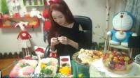 【完整版26】金枪鱼+奶油虾+辣椒虾+水果奶油芝士蛋糕_P2_mp4