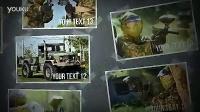 野外拓展军事游戏照片墙展示AE模板