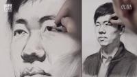 「国君美术」雷超群素描头像_男青年1/2侧面_人物素描教程