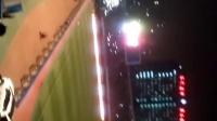 2016年中超石家庄永昌对国安,灯光故障双方球迷各自助威