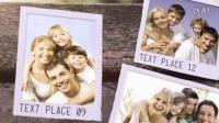 AE模板实拍清新自然长椅展示家庭照片感恩怀旧婚礼电子相册视频