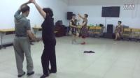 华宝王老师、周越峰跳交谊舞《恰恰舞》
