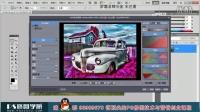 PS修图调色合成HDR复古汽车