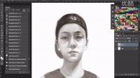 陈伟霆在大阪PS绘画