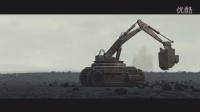 一个关于采矿机器人的科幻动画短片