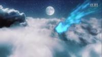 会声会影模板 唯美夜空中的光束穿越logo揭示