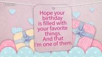 卡通风格可爱的祝你生日快乐视频贺卡AE模板Happy Birthday Card