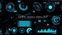 HUD高科技 动态制作元素材 AE模板源文件_高清