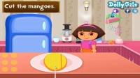 爱探险的朵拉历险记小游戏之制作芒果芝士蛋糕❤卤肉解说❤