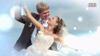 AE模板纯洁爱心彩色粒子结婚婚礼展示电子相册新娘新郎照片开场