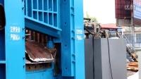 龙门式剪切机-800吨剪切力  ,剪切重型废钢调试视频,军民机械发货广东