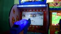 视频: 侏罗纪 儿童打枪机 投币射击游戏机 室内儿童游乐项目 大型电玩娱乐设备