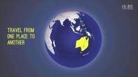 AE模板3251-扁平化MG地球旋转信息元素AE模板