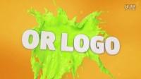 AE模板液体油漆泼墨飞溅logo演绎片头动画栏目包装字体特效演示