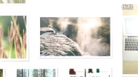 A1082 简洁大气家庭企业婚礼生活照片墙展示动画电子相册宣传片AE模板