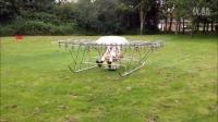 牛人自己打造的直升机