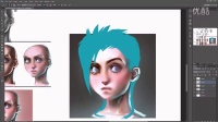 【PS手绘】超级卡通角色手绘实例训练视频教程第六期-lightshadow_voice over tutorial