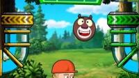 《熊出没之冬日乐翻天》★熊大熊二弹弹球比赛★4399小游戏!