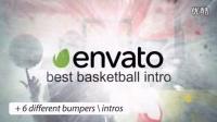 1310_超酷水墨篮球设计动画AE模板