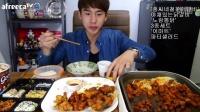 【微博@学姐宿舍】150909韩国吃播-奔驰小哥-芝士炒鸡排+炸鸡set+趴体沙拉