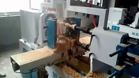 数控木工车床的优势旭东双轴四刀楼梯扶手机械