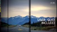 AE模板旅游婚礼电子相册屏幕平滑画面分割照片滑动效果转场视频