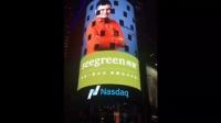 香港时闰创始人汪凯着陆美国纽约曼哈顿时代广场纳斯达克大屏幕 (世界的十字路口)