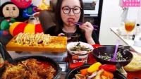 【微博@学姐宿舍】韩国吃播-150901爱凤吃播-辣鸡爪+炸整鸡+拳头饭+鸡蛋卷