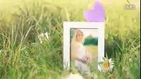ae模板-草地背景我们的爱情故事记录记载电子相册视频模板