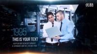 高科技数字企业发展历程图片展示AE模板 数字前沿幻灯片展示公司宣传介绍片头特效