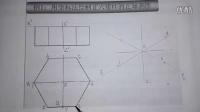 44.绘制平面立体的正等轴测图