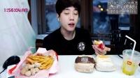 【微博@学姐宿舍】深情男子阿肯150927-汉堡+薯条+芝士球