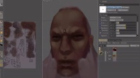 三维游戏角色建模之【野蛮人头像贴图绘制】三维模型_0