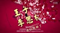 中国风花间醉舞游园花间 婚礼婚纱照开场预告片震撼片头AE模版