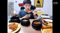 【微博@学姐宿舍】大邱一哥MBRO吃播-各种汤泡饭+炸猪排饭+蛋包饭+炒牛肉饭+炒猪肉饭