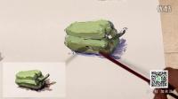 水粉单个静物蔬菜青椒的画法教程